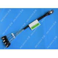 Buy cheap 30 AWG Mini SAS Serial Attached SCSI Cable , 36P SFF 8087 To SATA Breakout Cable With Latch from wholesalers