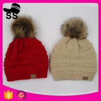 Buy cheap 2017 fashion 21*25+10cm 120g 100%Acrylic factory winter pom pom knitting custom snapback beanie caps hats from wholesalers