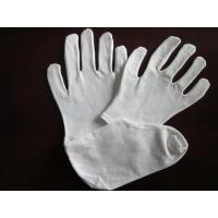 Buy cheap Comfortable Soft Beauty Girls White Cotton Gloves For Dry hands with OPP Bag from wholesalers