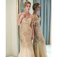 Buy cheap Autumn Long Length Ladies Evening Dresses , Off Shoulder Ladies Evening Wear For Party from wholesalers