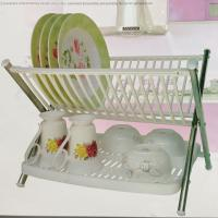 Buy cheap Stainless Steel Kitchen Plate Rack Plastic Storage Holders White With PP product