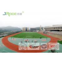 Buy cheap PU Rubber Athletic Track Field Surface Antimicrobial Healthy , Green / Red Color from wholesalers