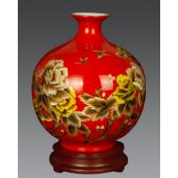 Buy cheap handmade Wheat straw ceramic Pomegranate vase, flower vase, china vase, ceramic vase from wholesalers