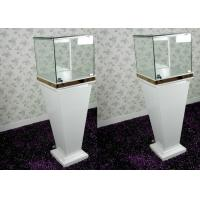 Buy cheap Modern Wood Glass White Exhibition Cabinets , Lockable Jewellery Display Cabinets product
