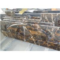 Buy cheap Gold Black Portoro Marble Slab , Marble Slab For Kitchen / Bath Worktop from wholesalers