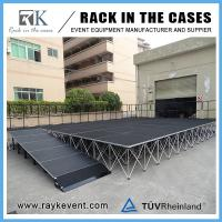 Buy cheap 1x1m Fire-proof plywood portable aluminium stage portable stage ramp outdoor Concert Stage Sale from wholesalers