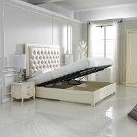 Buy cheap Crystal buckle Upholstered Headboard with Storage cabinet Bed in Neoclassical from wholesalers