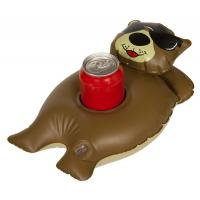 Buy cheap Brown Non Toxic Vinyl Inflatable Cup Holder With Silkscreen Printing from wholesalers