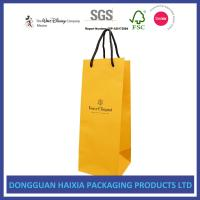 Buy cheap Custom Logo Printing Kraft Paper Shopping Bags Soft Packaging For Red Wine from wholesalers