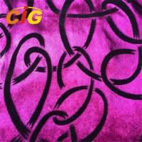 Buy cheap Flocking Design Printed Velvet Sofa Upholstery Fabric With 100% Polyester Material product