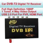 Buy cheap 1080P Video Play External Car Digital TV Receiver , DVB T2 Mobile Digital TV Receiver For Car from wholesalers