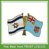 Buy cheap Custom made flag lapel pin, UK flag lapel pins with plating gold from wholesalers