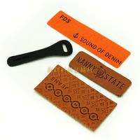 Buy cheap Custom Made Leather Patches With Debossed Logo Denim Jeans Accessories from wholesalers