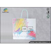 Mobile Phone Paper Shopping Bags High Bursting Resistance For Holiday Promotions