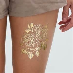 Buy cheap Golden Flower Design Fake Body Tattoo Sticker Art For Decoration product
