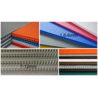 Buy cheap 2440x1220mm 3mm 4mm polypropylene corrugated plastic sheet , Flute PP Sheet from wholesalers