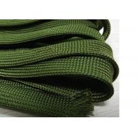 Buy cheap Green Nomex Electrical Braided Sleeving Wear Resistant For Cable Management from wholesalers