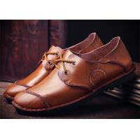 Buy cheap Mark Thread Genuine Leather Formal Shoes For Men Customized Color Flat Heel from wholesalers