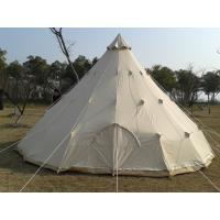 Buy cheap 4M teepee tent  canvas bell tent luxury tent 100% cotton canvas waterproof mildew resistant camping tent from wholesalers