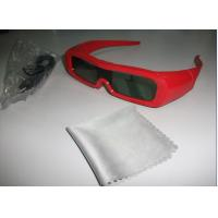 Buy cheap Red Universal Active Shutter 3D TV Glasses Reaction LCD Lenses from wholesalers