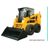 Buy cheap Enclosed Operator Cab Skid Steer for Rent , 4 in 1 bucket Skid Steer Track Loaders from wholesalers