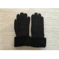 Buy cheap Women Shearling Warmest Sheepskin Gloves , 100% Hand Sewing Lambswool Lining Cuff from wholesalers
