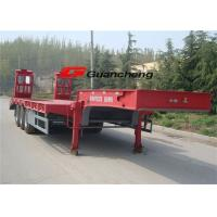 Buy cheap 2 / 3 Axle Low Bed Semi Trailer For Heavy Duty Equipment Trailers ISO CCC from wholesalers