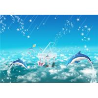 Waterproof Bamboo Fiber Board Dolphin Music Ocean Restaurant Decorative Wall Panels