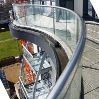 Buy cheap Arched Tempered Glass Railing / Aluminum U Channel Railing / Curved Glass Balustrade from wholesalers