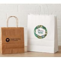 Buy cheap Custom Printed Clothing Paper Bags , Paper Shopping Bags With Handles from wholesalers