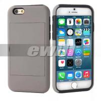 Buy cheap PC hard case For iphone 6 case with credit card slots stander from wholesalers