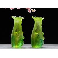 Buy cheap Gradual Green Colored Glaze Vase Family Hall Use Custom Service Available from wholesalers