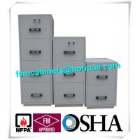 Buy cheap Steel 4 Drawers Fire Resistant File Cabinets , Fireproof File Cabinets For Documents from wholesalers