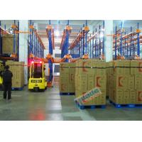 Buy cheap Warehouse Automated Radio Shuttle Racking Cold Supply Chain Pallet Shuttle System from Wholesalers