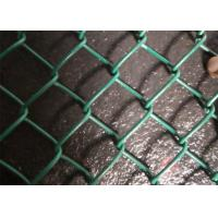 China Lightweight Pvc Coated Chain Link Fence Mesh Green / Black / Blue Color on sale