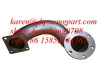 Buy cheap Weichai Engine Exhaust Pipe Bended 612600110506, Xcmg wheel loader spare part from wholesalers