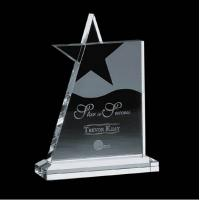 Buy cheap Novelty Engraved Crystal Acrylic Award Plaques / Acrylic Star Trophy from wholesalers