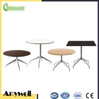 Buy cheap Amywell high density waterproof durable Phenolic HPL outdoor round garden table from wholesalers
