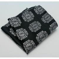 Buy cheap Black patterned Woven Pocket Squares , Men Suit Pocket Square for spring from wholesalers