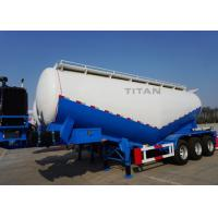 Buy cheap TITAN vehicle 3 axle 55 ton 48cbm bulk material trailer cement silo for sale in india from wholesalers