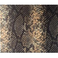 Buy cheap Transference Resistance Stereo PU Snakeskin leather Vinyl Fabric For Shoes product