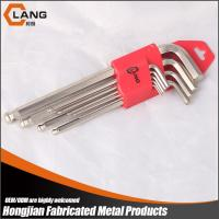 Buy cheap 9pcs long ball point pearl nickel plated hex key allen key set from wholesalers