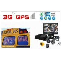 School Buse Surveillance System 4 Camera Car Dvr With Gps