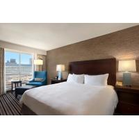Buy cheap Hotel Room Furniture Cherry Wood King size Bed and Desk set in Modern American from wholesalers
