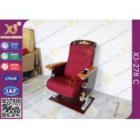 Buy cheap Antique Golden Paint Veneer Theatre Seating Chairs With Solid Wood Armrest / Cup holder from wholesalers