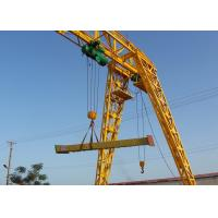 Buy cheap Strong Steel Industrial Electric Gantry Crane Single Beam 5-20 Ton Loading Capacity from wholesalers
