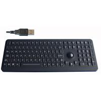 Buy cheap black silicone rubber water proof mechanical keyboard with optical trackball from wholesalers