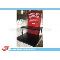 Buy cheap Black Knives display stand with 2 shelves and 4 metal support tubes and foam board from wholesalers