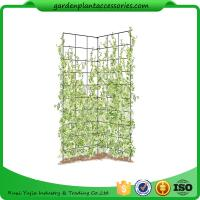 Buy cheap Two Panel Folding Screen Trellis , Garden Trellis Plant Support ​35-1/2 W x 58 H overall  Powder-coated steel from wholesalers