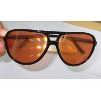 Buy cheap Amber Plastic Diffraction Glasses Aviator Style With Spiral Effect product